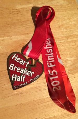 2015 Heartbreaker Half Marathon Medal